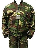 Kids camo MA1 woodland camouflage army bomber jacket