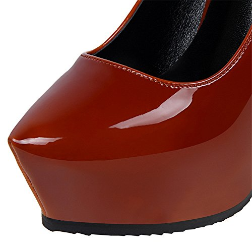 Mesdames Soirée 34 forme Pompe De Mariée Plate Chaussures Talons Hauts Rouge Sexy Ggxheel ZwX4Z