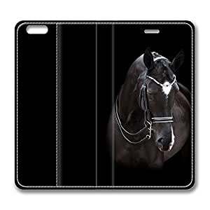 Brian114 5C Case, iPhone 5C Case - Best Protective Scratch-Proof Leather Cases for iPhone 5C Closeup Of Horse Customized Design Folio Flip Leather Case Cover for iPhone 5C Inch