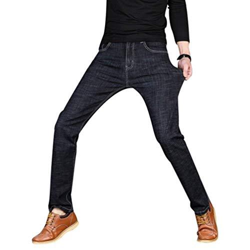Abbigliamento Stretch Ssig Lavoro Nero Jeans Da Slim Adelina Uomo Retrò Pantaloni Diritti 78YxqpX