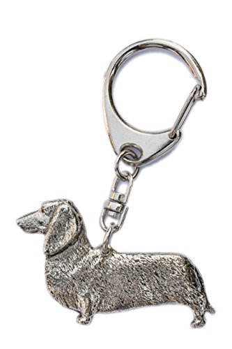 Dachshund Smooth Coat Made in U.K Artistic Style Dog Key Ring Collection