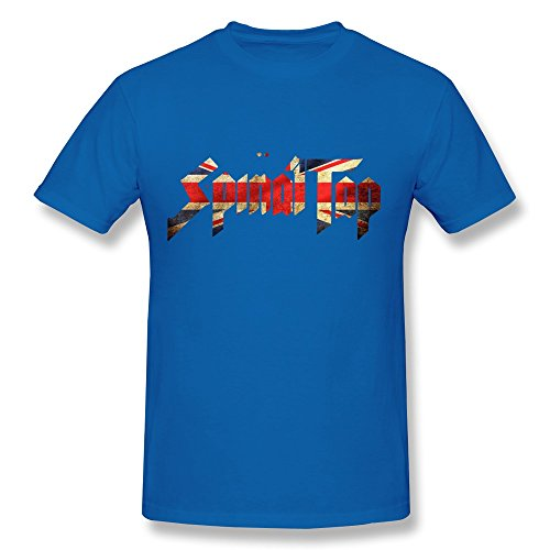 SIANDA Men's Spinal Tap Band UK Flag Logo T-Shirts Black