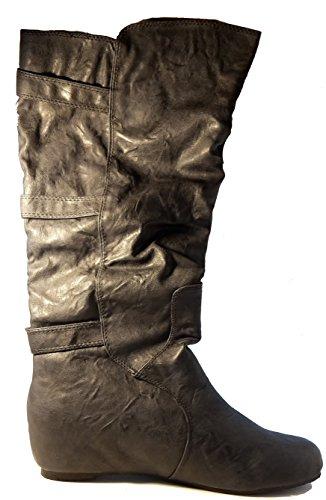 3-W-Hohenlimburg Hohe Stiefel in schickem Look, Braun oder Dunkelblau, Damenschuhe, STI021, Stiefel für Damen, ein Echter Hingucker-Schuh. Dunkelblau