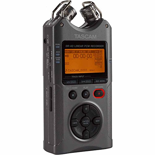 Tascam DR-40 - Portable Digital Recorder (Luminous Gray) by Tascam