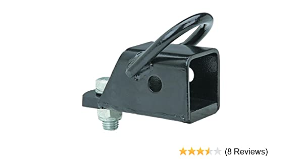 ATV Hitch Adapter Square Drawbar 2 in Powder-Coated Steel Corrosion Resistant