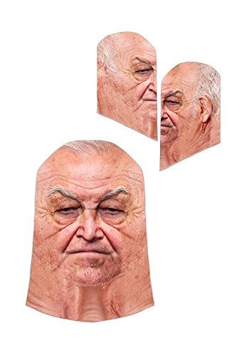 Old Man Mask - Grandpa Grandfather Face Mask One Size Fits Most