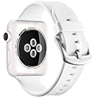 Apple Watch Sport Band 38mm 42mm, UMTELE Soft Silicone Replacement iWatch Bands Sport Strap with Buckle Clasp...