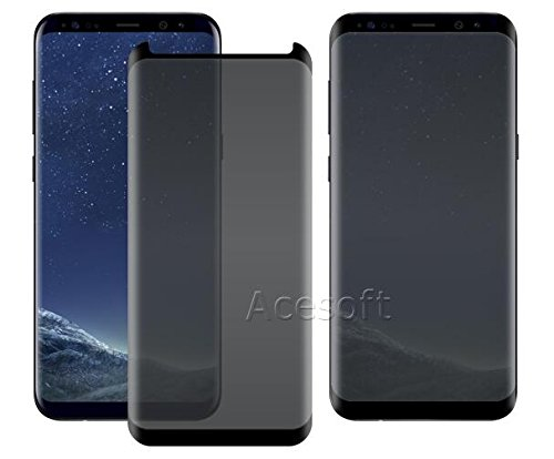 High Responsivity Privacy Anti-Peep 9H Hardness Scratch Resistant Curved Tempered Glass Screen Protector [Easy to Install] for Samsung Galaxy S8+ SM-G955U Android phone - USA FAST SHIPPING