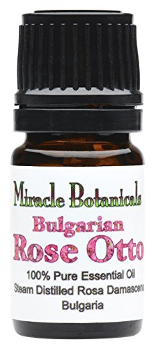 Miracle Botanicals Bulgarian Rose Otto Essential Oil - 100% Pure Rosa Damascena - 2ml, 5ml, and 10ml Sizes - Therapeutic Grade - 5ml