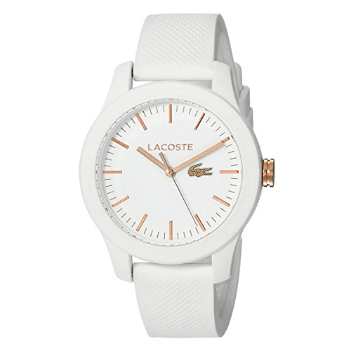 Lacoste Women's 'LADIES 12.12' Quartz Stainless Steel and Silicone Casual Watch, Color:White (Model: 2000960)