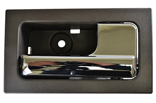 (PT Auto Warehouse FO-2507MG-FR - Inside Interior Inner Door Handle, Gray Housing with Chrome Lever - for Power Locks, Passenger Side Front)