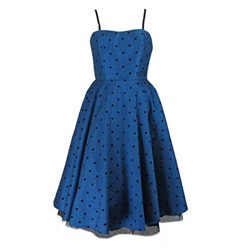 Hell-Bunny-Blue-Isabella-Polka-Dot-Flock-Prom-Retro-Dress-Sizes-XS-4XL