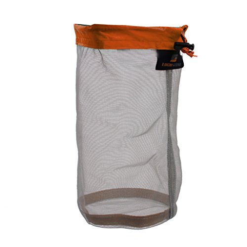 Ultra Light Mesh Stuff Sack Storage Bag for Tavel Camping Orange