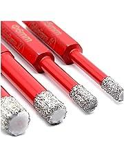 HobbyPower24 ® Tegelboorset 4-dlg. 5, 6, 8, 10, mm zeskant - boor voor het boren van harde tegels - diamantboorset - premium kwaliteit hoogwaardige diamanten - boor fijnsteengoed