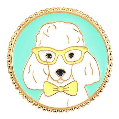 Flairs New York Premium Handmade Enamel Lapel Pin Brooch Badge ([Dog] White Poodle, 1 Pin) ()