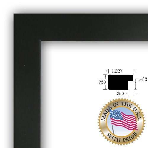 Art to Frames 2WOMFRBW26079-24x24 24 by 24-Inch Picture Frame, 1.25 ...