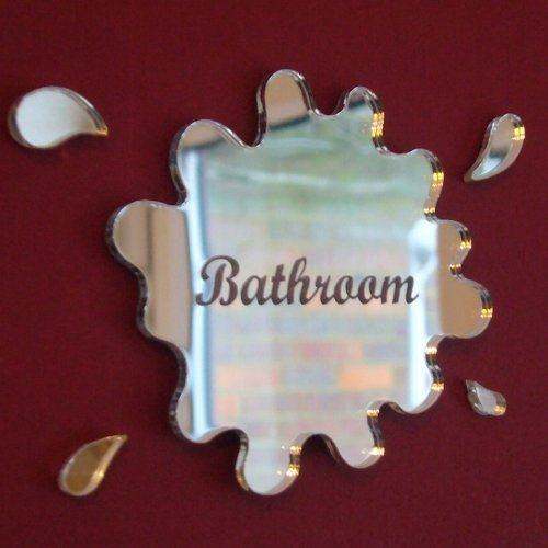 Super Cool Creations Engraved Bathroom Puddle Mirror 12cm x 10cm Door -