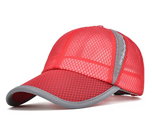CRYSULLY Baseball Cap for Men and Women Cool Sporting Hat with Adjustable Backclosure Athletic Mesh Cap Visor Cap (Athletic Mesh Visor)
