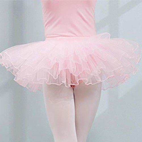 Niño Traje De Partido Niños Color Rosa Princesa Tutú La Junjie Desgaste De Elástico Danza Falda Falda Cintura Ballet Niñas La Sólida De Plisada Del Del wrqrECA4