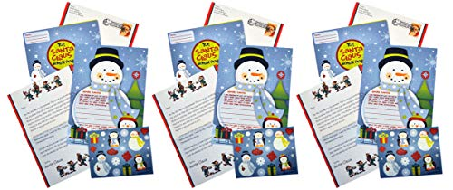 Letters To and From Santa Set, Christmas Holiday Santa Claus Letter Stationary Kit (3 kits) ()