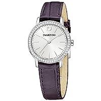 Swarovski Graceful Mini Leather Strap Silver Tone Watch Deals