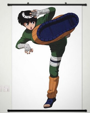 Wall Scroll Poster Fabric Painting For Anime Naruto Rock Lee A375 L