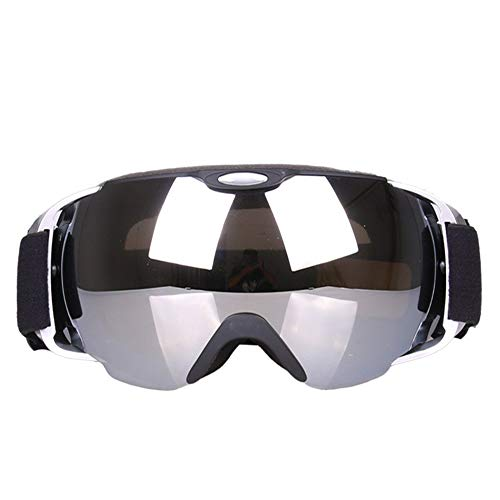 (Ski Goggles Ski Goggles Snowboard Glasses Outdoor Sports Snowboard Goggles Anti Fog UV Protection Windproof Double Lens Snowboard Goggles for Motorcycle Bicycle Skiing Skating (Color : Silver))