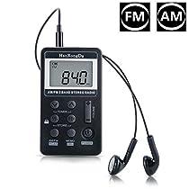 offeree FM/AMラジオ 大きいLCD液晶ディスプレー DSP技術 高感度 ...