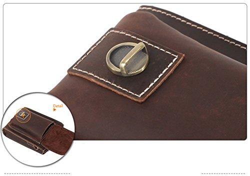 Modelshow Herren Echtes Leder Retro Mini Taille-Packs Messenger Tasche Schultertasche Geneigte Einzigen Umhängetasche