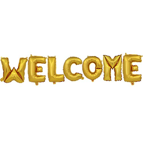 16 Inch Welcome Letters Balloons Foil Balloons Mylar Balloon