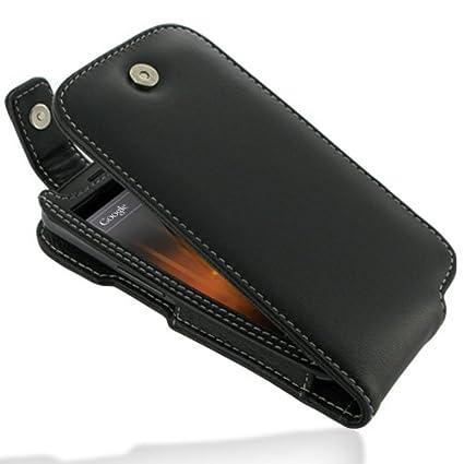 meet 31290 3f1d0 PDair Leather Case for Samsung Galaxy Nexus GT-i9250 - Flip Top Type (Black)