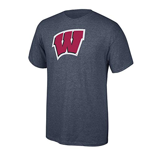 Elite Fan Shop NCAA Men's Wisconsin Badgers T Shirt Charcoal Icon Wisconsin Badgers Charcoal Small