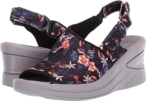 (BZees Women's Viva Black Tropical Print 9 W US)