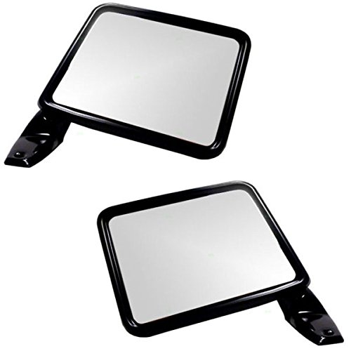 Ranger Bronco II Manual Smooth Black Rear View Mirror Right & Left Side SET PAIR