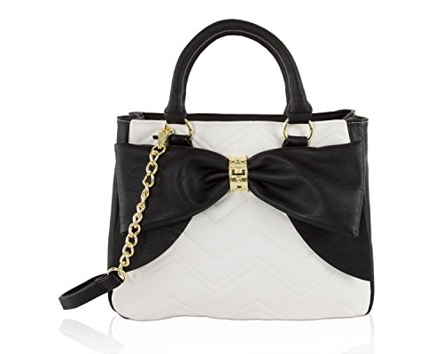 Betsey Johnson Bow Dome Tote & Pouch Set Quilted Purse Set