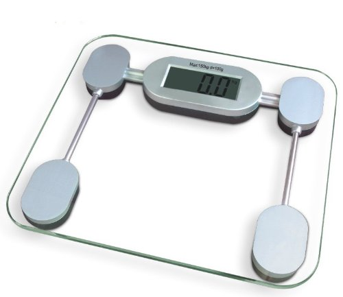 UPC 068888987004, GSI Super Quality Electronic Portable Light Digital Bathroom Scale With Elegant Tempered Glass Top - High Precision Accurate Weight Readout - Large LCD Display