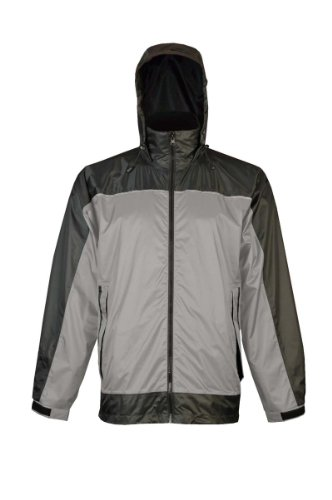 Viking Men's Windigo Waterproof Packable Rain Jacket, Grey/Charcoal, XXX-Large