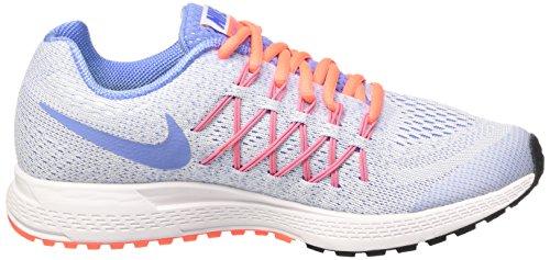 Nike Zoom Pegasus 32 (Gs), Zapatillas de Running para Niñas Blanco / Azul / Amarillo (White / Chalk Blue-Bright Mango)