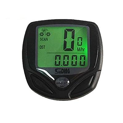 Bestgoo® Wireless Waterproof LCD Bike Computer Odometer Speedometer with Multi Function and LCD Backlight