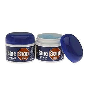 Blue Stop Max Pain Cream, Pack of 2 (2 oz. each jar)