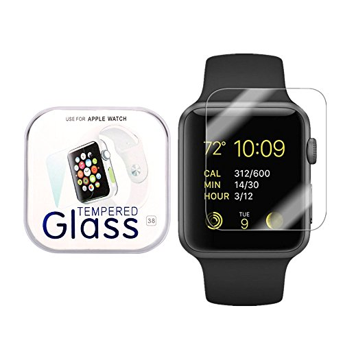 Apple Watch 38mm Smart Watch Screen Protector, Kayane empered Glass Screen Protector [Bubble Free ][Scratch Resistant][Easy Installation] for Apple Watch 38mm (2 pack)