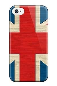 Hard Plastic Iphone 4/4s Case Back Cover,hot British Flag Retro S Case At Perfect Diy hjbrhga1544