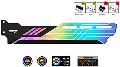 EZDIY-FAB Tarjeta Gráfica RGB Colores Soporte para GPU Soporte para Tarjeta de Vídeo,Soporte para Tarjeta de Vídeo Soporte para Funda/Tapa de 5V 3 ...
