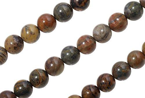 2 Strands 15 1/2 Inch 6 mm Natural Silver Leaf Jasper Gemstone Beads (Silver Leaf Jasper Beads)