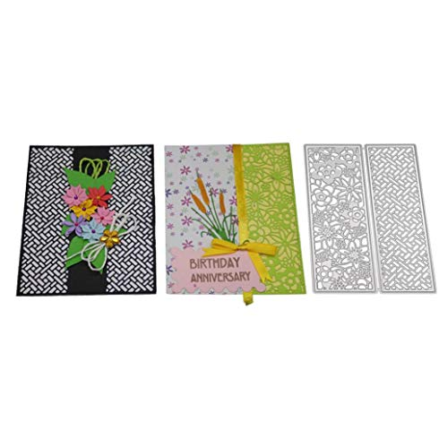 XILALU Accuquilt Cutting Dies,3D Folder Flower/Card Cover/Envelope/Happy Birthday Word/Gift Box Stencil Metal Template Embossing for DIY Scrapbook Album Paper Card Decor