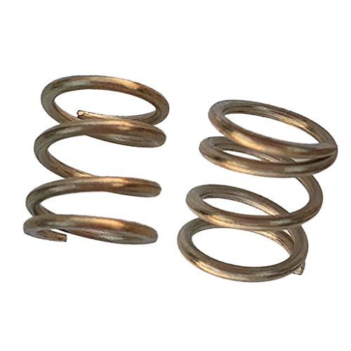 CUTICATE 2pcs Strong Stainless Steel Scuba Dive Tank Cylinder Valve Kit Handle Spring (Scuba Cylinder Steel)