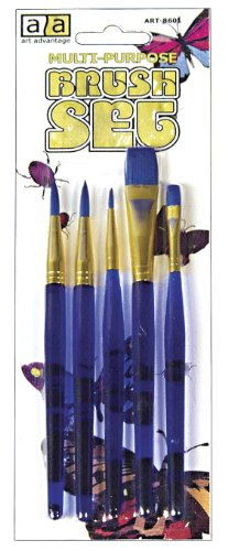 Art Advantage Multi-Purpose Brush Set, 5-Piece by Art Advantage