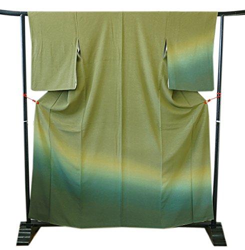 ベッドを作る概要悪性腫瘍博多着物市場 きものしらゆり 美品 裄65.6cm 極上ちりめん 三段ぼかし 色無地 付下げ 正絹 仕立て上り 身長151cm~158cmの方に最適