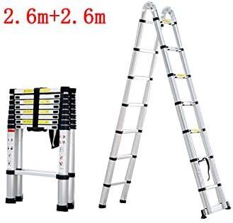 GXYGWJ Escalera Plegable de Subida y Bajada doméstica. Escalera telescópica de aleación de Aluminio. Escalera (Size : 2.6m+2.6m): Amazon.es: Hogar