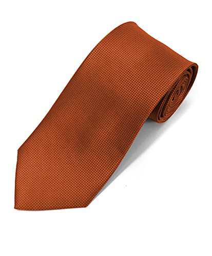 Silky Feel Solid Micro Woven Tie (Copper)